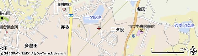 愛知県知多市日長(二タ股)周辺の地図