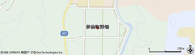 兵庫県姫路市夢前町野畑周辺の地図
