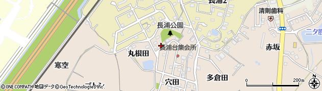 愛知県知多市日長(丸根田)周辺の地図