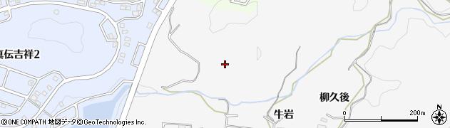 愛知県岡崎市箱柳町牛岩周辺の地図