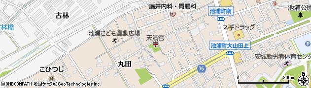 池浦神社周辺の地図