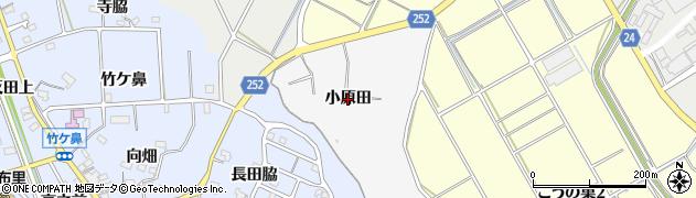 愛知県知多市八幡(小原田)周辺の地図