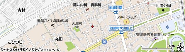 愛知県安城市池浦町周辺の地図