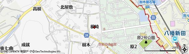 愛知県知多市八幡(根崎)周辺の地図