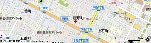 静岡県静岡市葵区屋形町周辺の地図