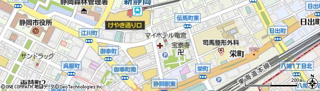 ホテルアーバント静岡akippa駐車場(5)周辺の地図