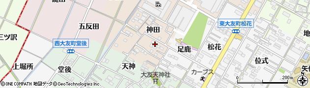 愛知県岡崎市橋目町(神田)周辺の地図