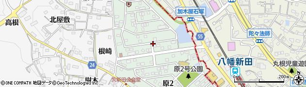 愛知県知多市原周辺の地図