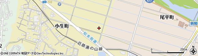 三重県四日市市小生町周辺の地図