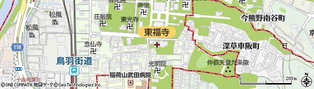 筆の寺周辺の地図