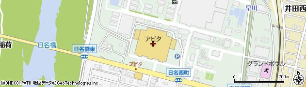氏田屋アピタ岡崎北店周辺の地図