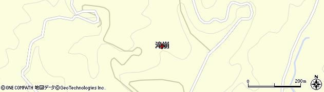 愛知県岡崎市千万町町(滝崩)周辺の地図
