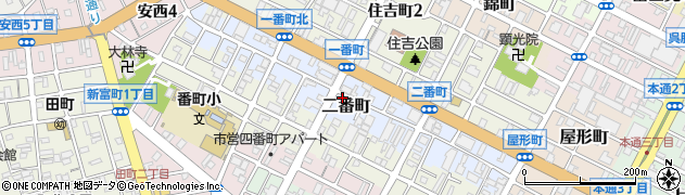 静岡県静岡市葵区二番町周辺の地図