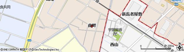 愛知県安城市尾崎町(南畔)周辺の地図