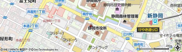 静岡市周辺の地図
