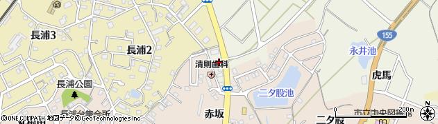 愛知県知多市新知(南新生)周辺の地図