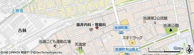 愛知県安城市池浦町(池浦)周辺の地図