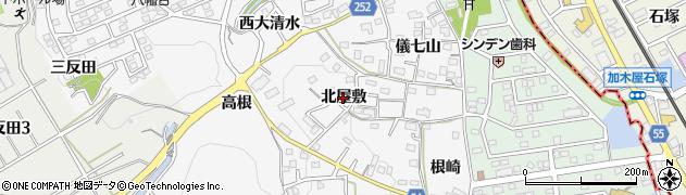 愛知県知多市八幡(北屋敷)周辺の地図