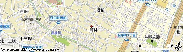 愛知県刈谷市野田町(筒林)周辺の地図
