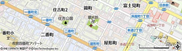静岡県静岡市葵区研屋町周辺の地図