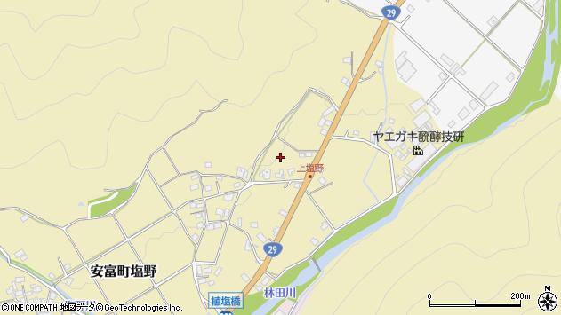 〒671-2422 兵庫県姫路市安富町塩野の地図