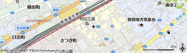 静岡県静岡市駿河区豊原町周辺の地図