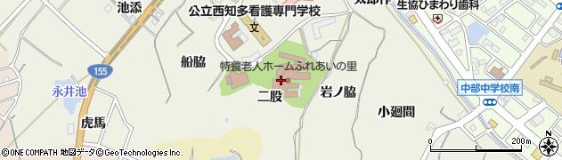 愛知県知多市新知(二股)周辺の地図
