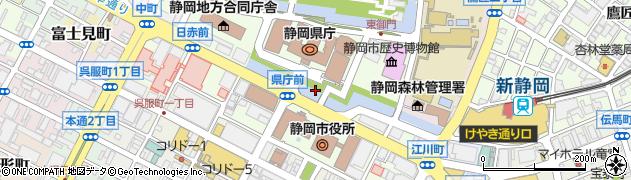 静岡県静岡市葵区追手町周辺の地図