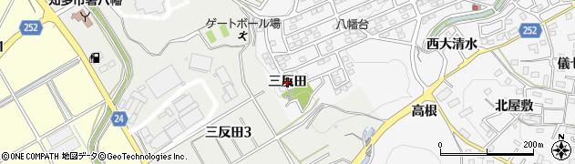 愛知県知多市八幡(三反田)周辺の地図