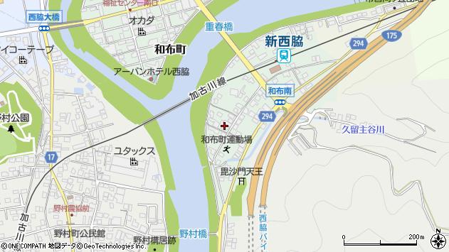 〒677-0053 兵庫県西脇市和布町の地図