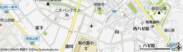 愛知県安城市篠目町(溝川)周辺の地図