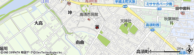 愛知県刈谷市高須町(巽)周辺の地図