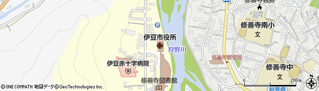 静岡県伊豆市周辺の地図