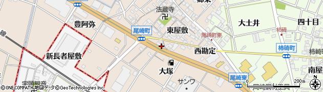 愛知県安城市尾崎町(東大塚)周辺の地図