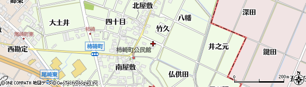 愛知県安城市柿碕町(仏供田)周辺の地図