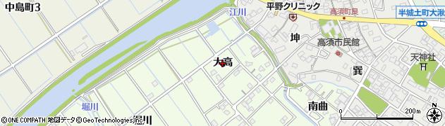 愛知県刈谷市小垣江町(大高)周辺の地図