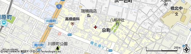 三重県四日市市京町周辺の地図