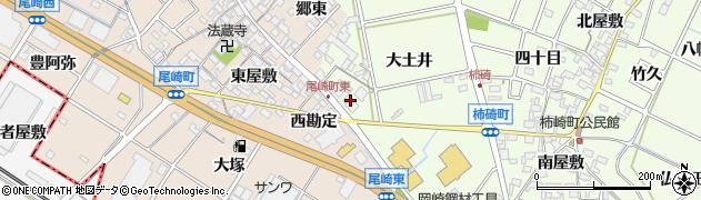 愛知県安城市柿碕町(勘定)周辺の地図