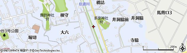 愛知県知多市佐布里(五反田)周辺の地図