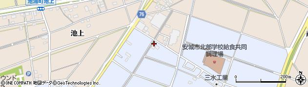 愛知県安城市新田町(稲恵)周辺の地図