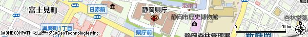 静岡県周辺の地図