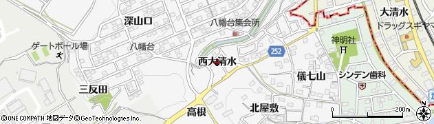 愛知県知多市八幡(西大清水)周辺の地図