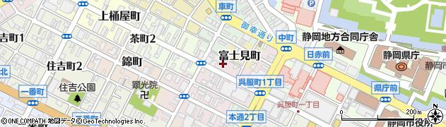 静岡県静岡市葵区金座町周辺の地図