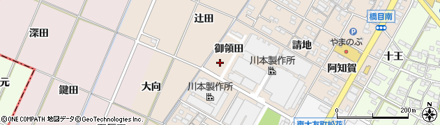 愛知県岡崎市橋目町(御領田)周辺の地図