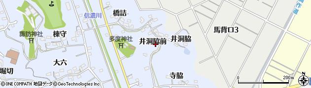 愛知県知多市佐布里(井洞脇前)周辺の地図