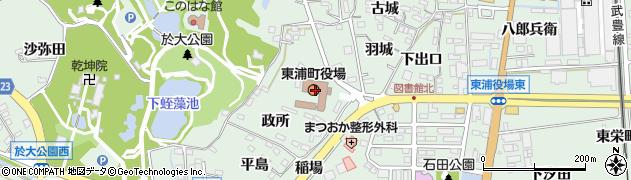 愛知県知多郡東浦町周辺の地図