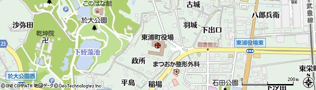 愛知県東浦町(知多郡)周辺の地図