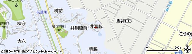 愛知県知多市佐布里(井洞脇)周辺の地図