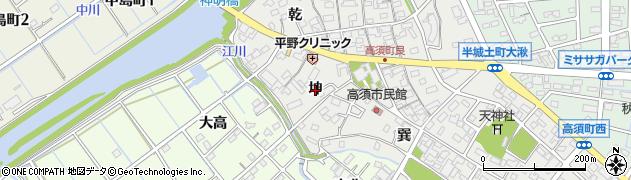 愛知県刈谷市高須町(坤)周辺の地図