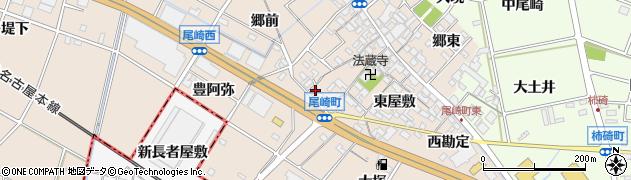 愛知県安城市尾崎町(北豊阿弥)周辺の地図